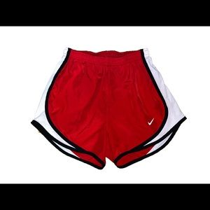 Red Nike Tempo Shorts